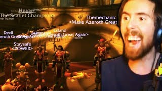 Asmongold Actual WORLD FIRST SCARLET ARMORY Clear (WoW Classic Beta)