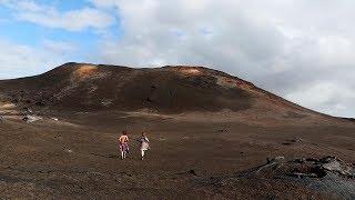 Hawaii Kilauea walking to the top of Fissure 8
