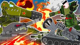 КВ-44 и его друзья против немецких Монстров. Приключения во времени. Мультики про танки.