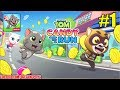Talking Tom Candy Run - Levels 1-10 - Gameplay Part 1 (Android/iOS)