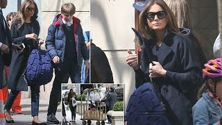 Melania Trump shows casual look picks up son Barron from school