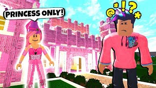 Princess ONLY Castle Has A SHOCKING SECRET.. (Roblox Bloxburg)