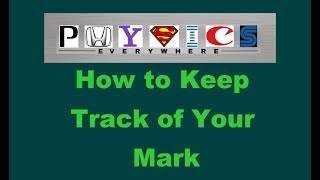 How to Know Your Mark : Marks Record Sheet