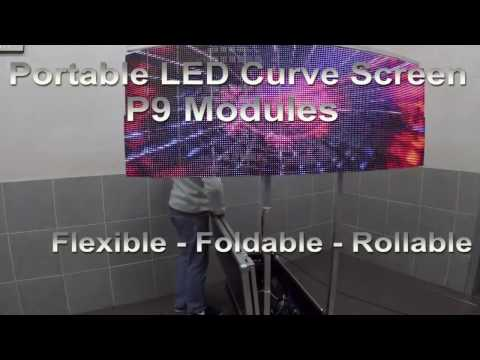 make your own Flexible LED Curve Screen Dj Booth LED Curtain Portable Rollable LED Soft Screen Live