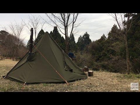#52「HOT TENT OVER NIGHT CAMP」薪ストーブでソロキャンプ