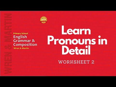 Wren Martin English Grammar Worksheet 2 Mark The