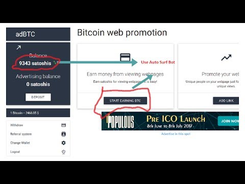 Earn Unlimited BTC with AdBtc.top Auto Surf