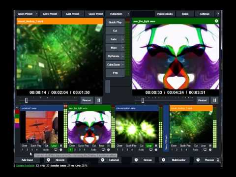 Milkdrop Vj Loops with Virtual DJ and VMix