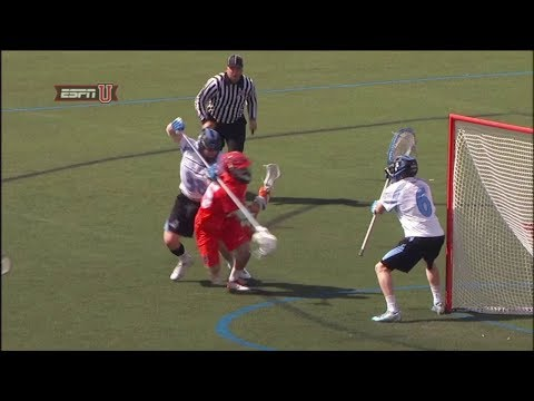 Dylan Maltz scores on an inside roll against Johns Hopkins
