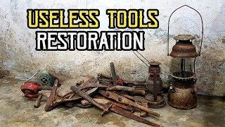 FOUND A BOX FULLED WITH ANCIENT HAND POWERED TOOLS | OLD SMITH INTRO VIDEO | RESTORATION TASK