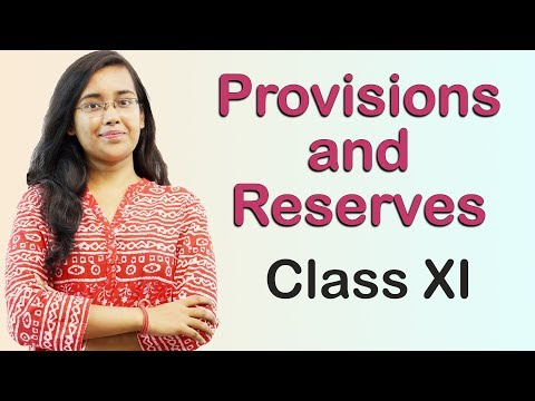 Provisions & Reserves - Introduction (Accounts Class 11th)