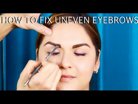 How to FIX Uneven Brows Pro Makeup Tutorial Step by Step - mathias4makeup