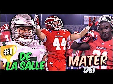 🔥🔥 #1 Mater Dei VS Undefeated De La Salle | The Battle For #1 | California State Championship Game
