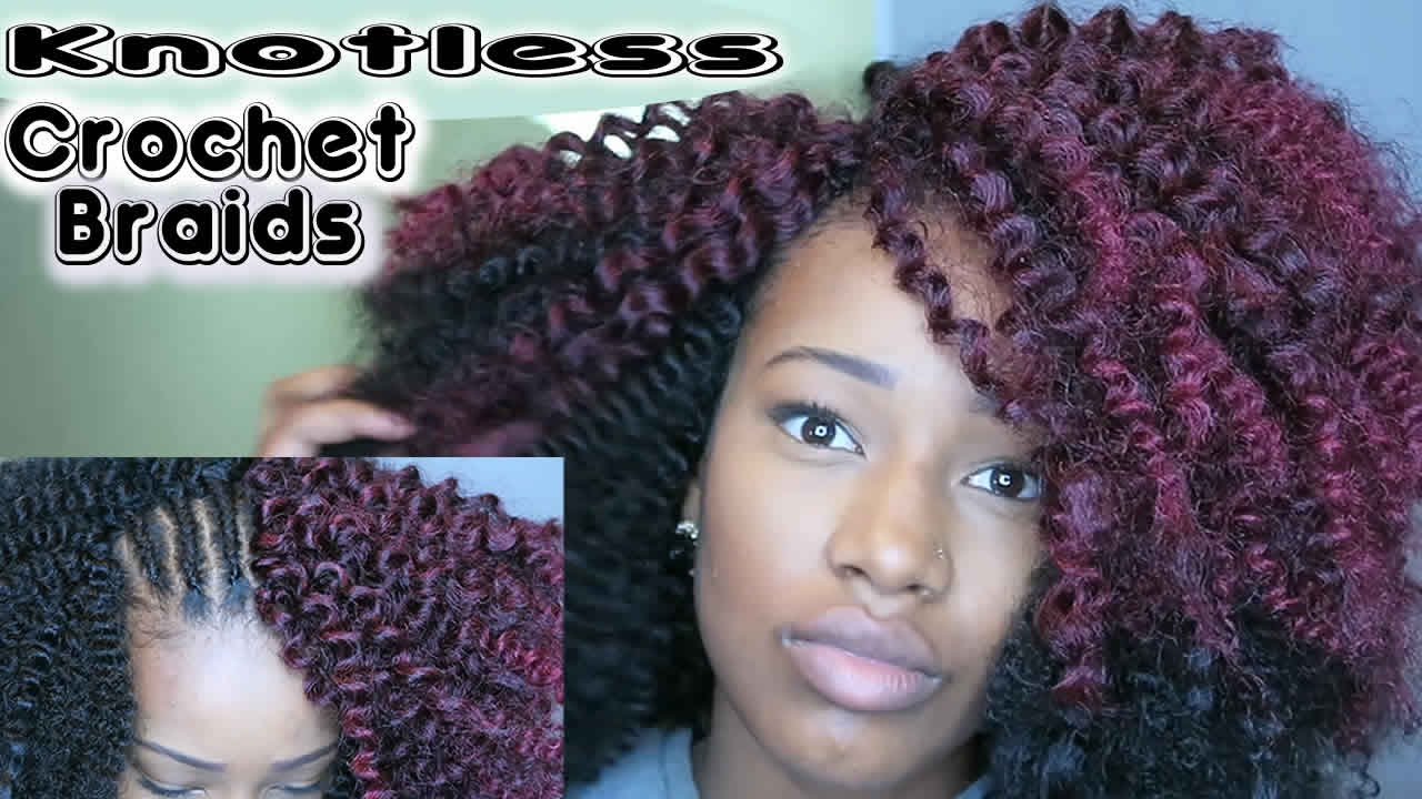 How To Install Knotless Crochet Braids Youtube