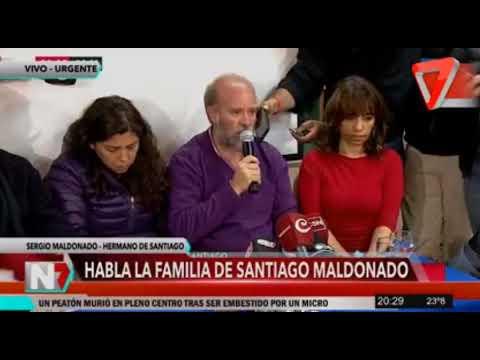 HACE INSTANTES: CONFERENCIA DE PRENSA DE LA FAMILIA DE SANTIAGO MALDONADO
