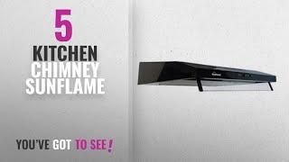 Top 10 Kitchen Chimney Sunflame [2018]: Sunflame 60 cm 500 cm3/m Chimney (CH Slim 60 BK CF, Black)