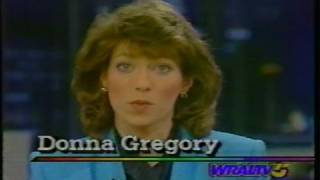 WRAL TV 5 11:00 PM News Update with Donna Gregory 12/22/1989