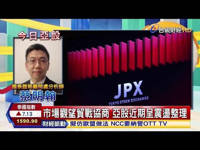 市場觀望貿戰協商亞股近期呈震盪整理