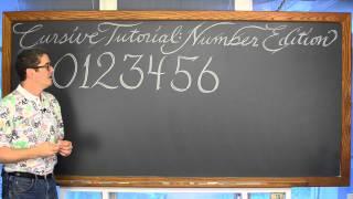 Cursive Tutorial Number Edition