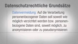 Cloud Computing Tutorial: Datenschutz Grundsätze |video2brain.com