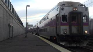 [HD] Purple and Silver trains at Canton Junction