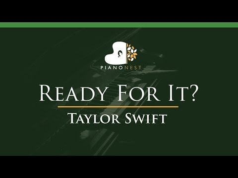 Taylor Swift - Ready For It? - LOWER Key (Piano Karaoke / Sing Along)