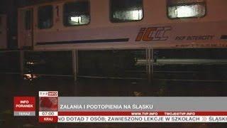 Śląsk Gwałtowne Opady I Utrudnienia W Ruchu TVP Info 25 06 2013
