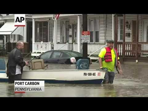 Heavy Rains Swamp Pa. Roads, Force Evacuations