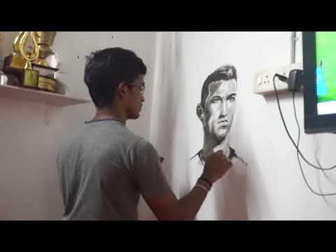 Cristiano Ronaldo Wall Painting