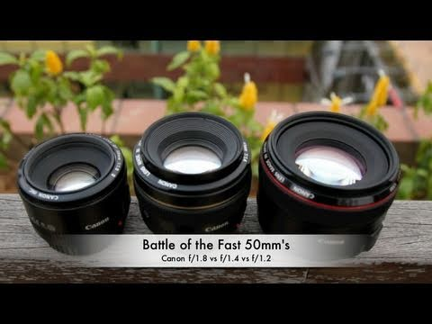 Battle of the Fast 50mm's: Canon f/1.8 vs f/1.4 vs f/1.2