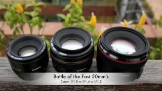 Battle of the Fast 50mm's: Canon f/1.8 vs f/1.4 vs f/1.2