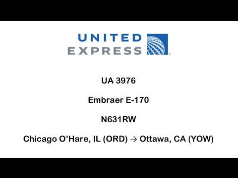 United Express UA 3732 - Chicago O'Hare (ORD) → Ottawa (YOW)(10/7/2016)