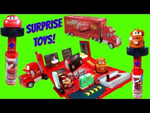 Disney Pixar Cars Lightening McQueen Mack Playset with Blaze and the Monster Machines