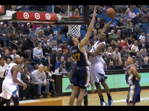 Andrew Wiggins poster dunk Rudy Gobert: Utah Jazz at ...