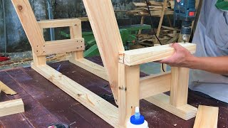 Making Beautiful Outdoor Chair Swing For Your Garden | Best DIY Woodworking Ideas From Old Pine Wood