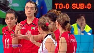 Olympics 2008 Women's volleyball Algeria - Russia