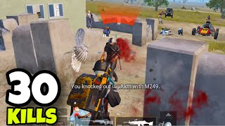 BEST GAMEPLAY OF PUBG MOBILE HISTORY!!! | 30 KILLS SOLO VS SQUADS