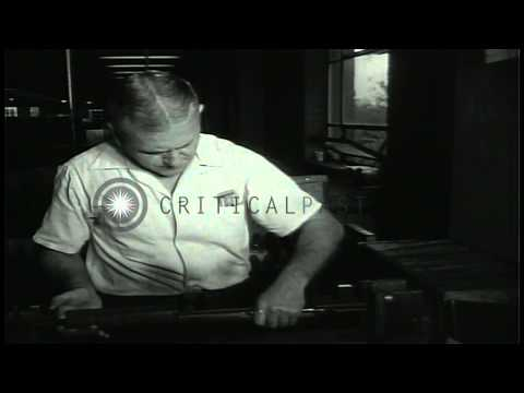 Rifles being manufactured, assembled and test fired at the Springfield Armory in ...HD Stock Footage