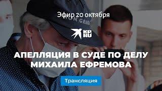 Апелляция в суде по делу Михаила Ефремова