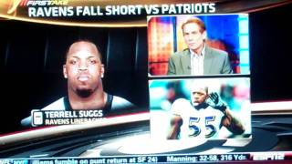ESPN First Take   Stephen A  Gives Skip Bayless Some Love After Cowboys Eliminated