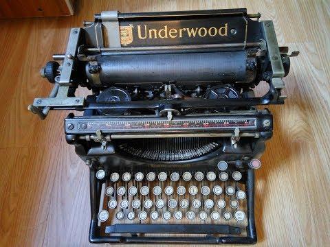 underwood typewriter dating