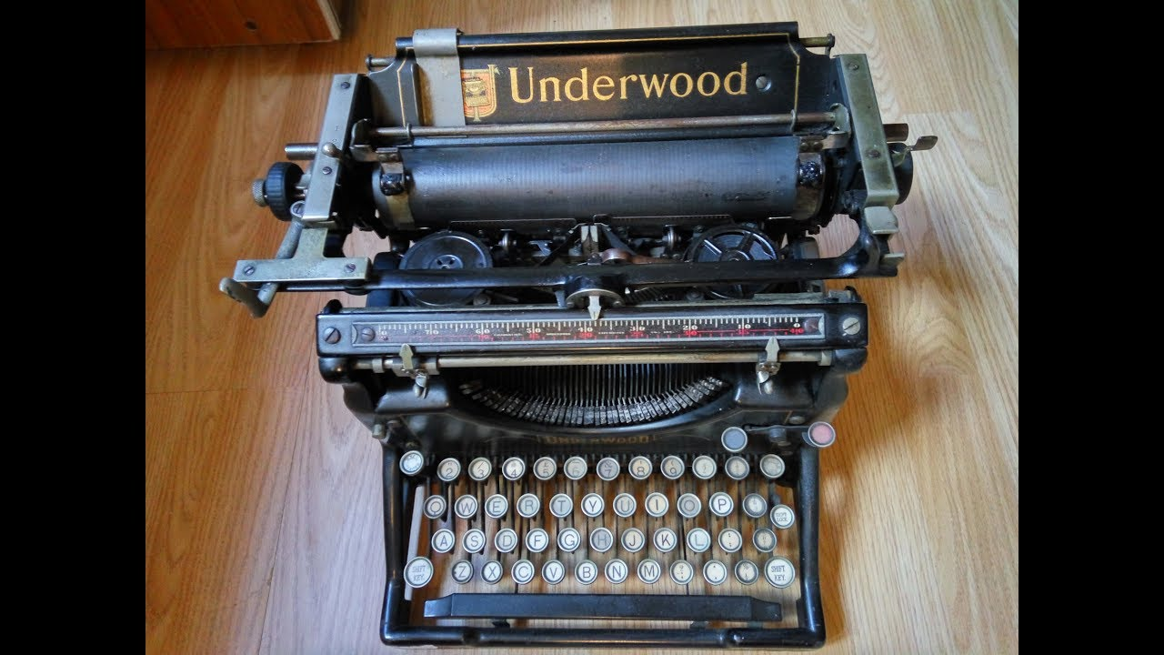 dating underwood typewriter