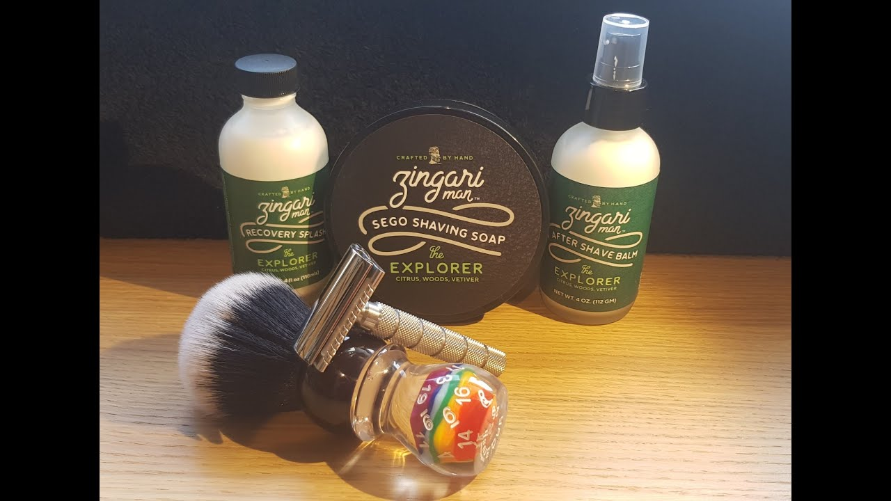 Zingari Man The Explorer - The Outlaw Razor - Yaqi Dice Handle Brush