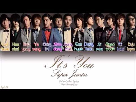 Super Junior 슈퍼주니어 – Its You 너라고 Color Coded Lyrics HanRomEng