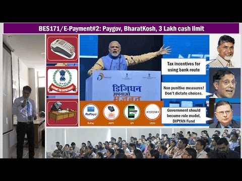 BES171/E-Payment #2: Penalties on Cash Transactions, Lucky Grahak, Paygov, NTRP, DipYAN