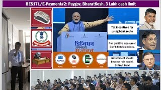 BES171/E-Payment #2: Penalties on Cash Transactions, Lucky Grahak, Paygov, NTRP, DipYAN