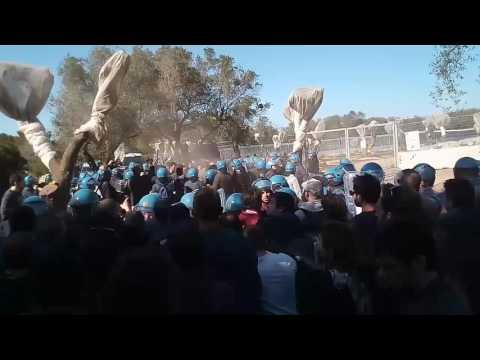 Riot NO TAP pipeline in Salento Italy ytp