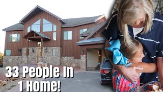 33 PEOPLE IN 1 HOME IN THE MOUNTAINS! / HUGE 3-FLOOR VACATION CABIN TOUR