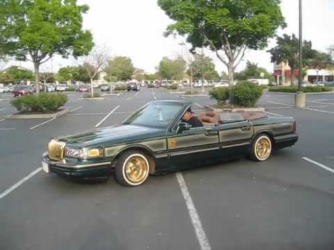 Supreme Car Club Lincoln Towncar Lowrider Drop Of Gold Youtube