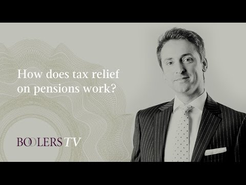 How does tax relief on pensions work?